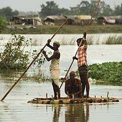 Bihar flood boat