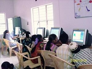 Computers at the DSF's R T Nagar Center