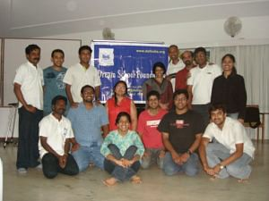 DSF Volunteers with Maitreyee (5th from right, standing)