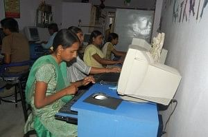 Students in Rose Computer Academy