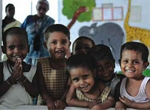 Children at the Mobile Creche