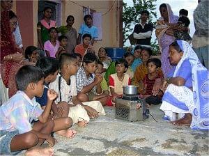 Demo of Oorja in a village