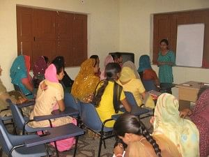 Thanks to the three- to four-month rigorous training course, rural women in Tikli and Aklimpur villages of Haryana can use the computer with élan. (Credit: Hemlata Aithani\WFS)