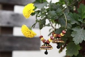 Handcrafted and handpainted terracotta baalis
