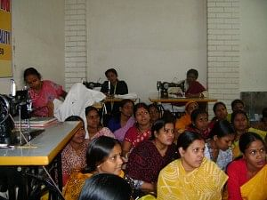 A tailoring training session under auspices of CDS.