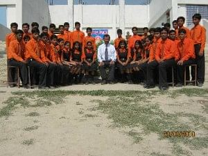 Chandrakant with his students