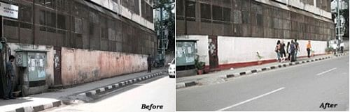 The transformation on the paan-stained wall