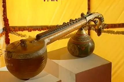 The Rudra Veena - a stringed Indian musical instrument