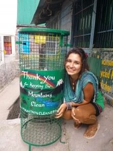 Dustbins installed at Bhagsu