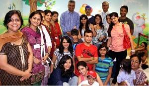Uday Foundation members with Rajdeep Sardesai