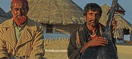 Meetha Khan and Jan Mohammad Jat inhabiting the remote village of Bhaagadia in the Rann of Kutch, have the distinction of being proponents of possibly the rarest of the rare music genres in India- the Waai style of music.