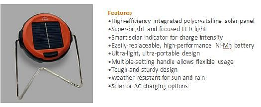 "Features of the solar lamp ""Edu-Light"""