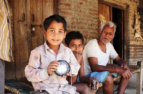 Donate a solar lamp this Diwali. Light a real lamp!