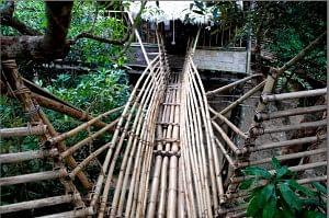 A Bamboo Stilt House in Mawlynnong