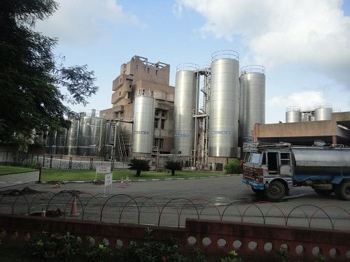 The Amul dairy plant at Anand