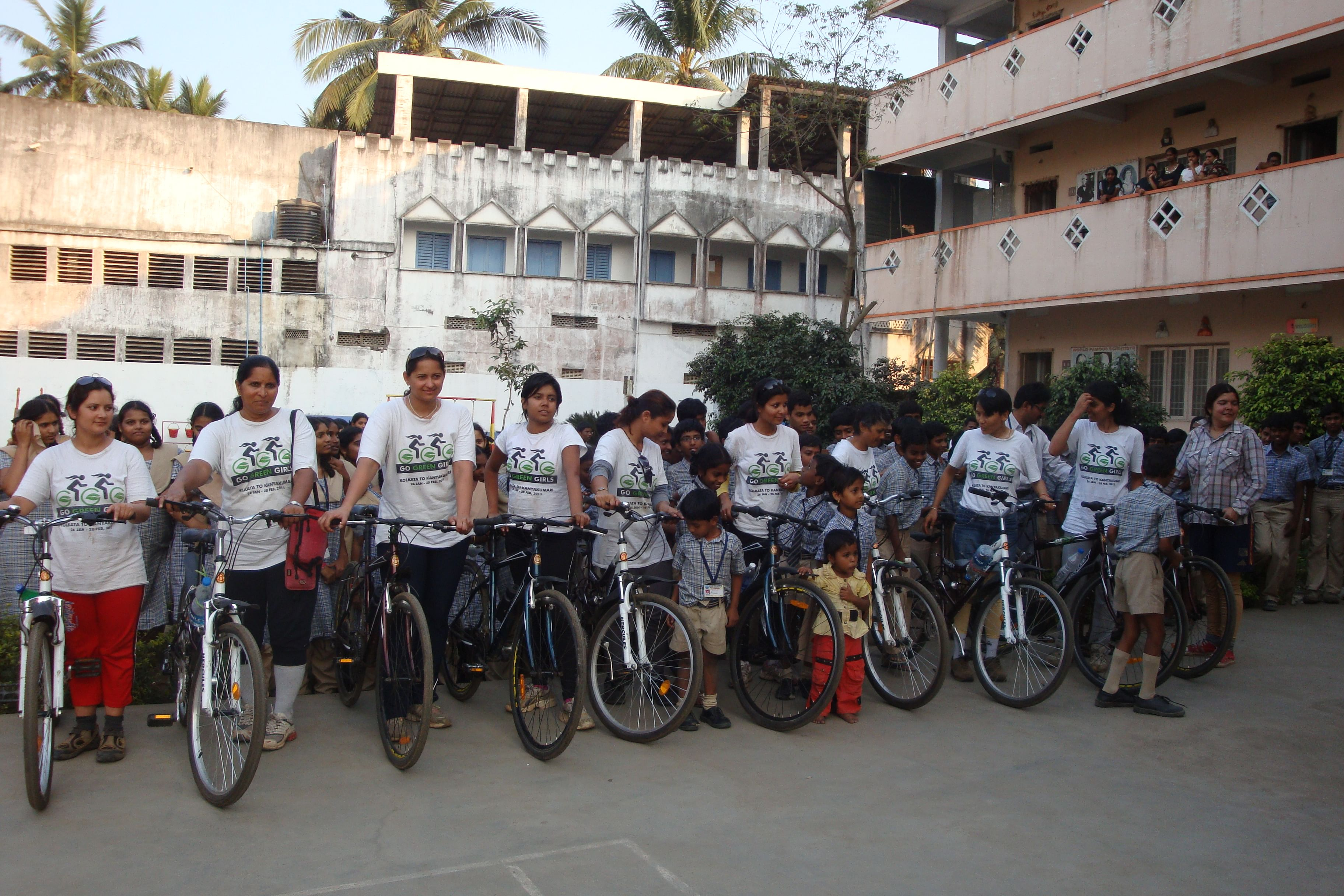 Image result for cycling to school indian girls