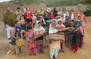 Blanket Distribution Drive at one of the IIMPACT centres