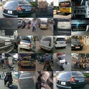 Snapshots of traffic violations