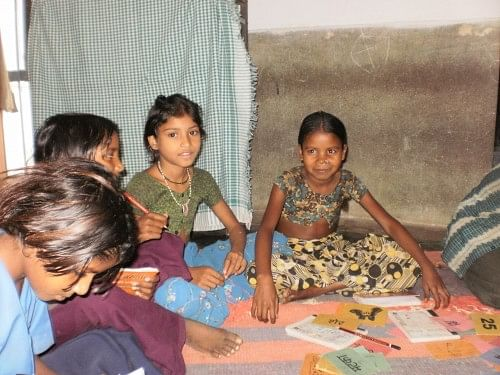 Tribal children at the residential camp