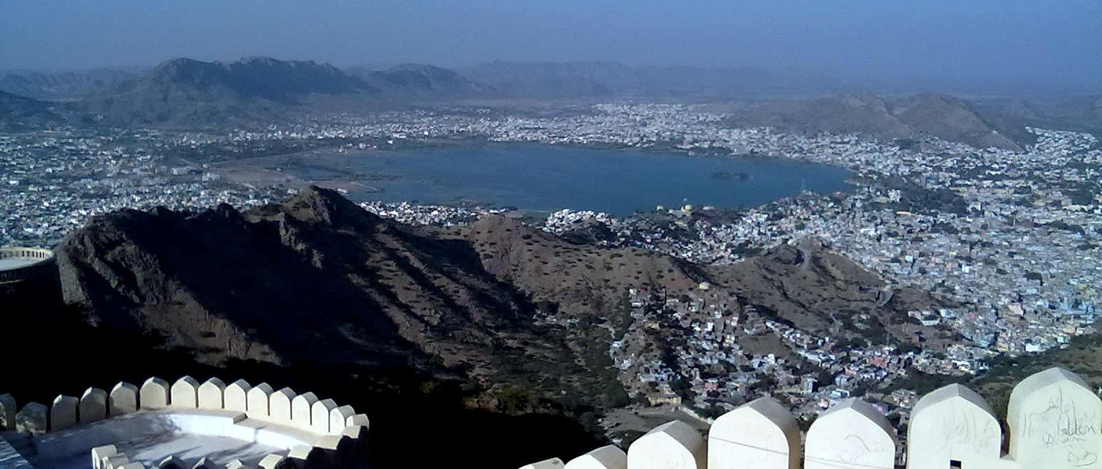 An aerial view of Ajmer from the Taragarh Fort