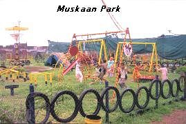 The Muskaan Park created with recycled materials to promote communal harmony.