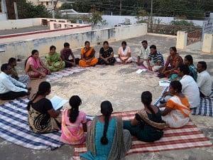Film Making Meeting Held in the Village