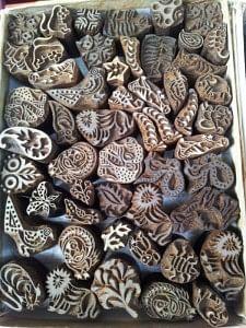 Carved rosewood blocks - Farokkhabad, U.P.