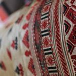 One of the beautiful traditional patterns woven at the loom