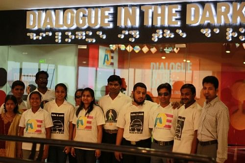Visually impaired guides employed at the Dialogue in the Dark centre