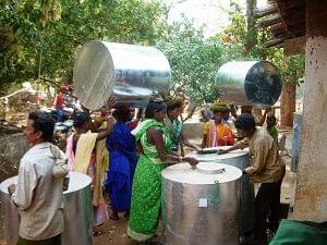 A Self Help Group (SHG) managed village grain bank in Odisha's Koraput district.