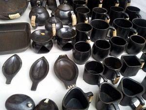 Longpi black stone pottery of Manipur