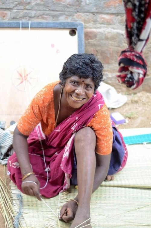 Murugayee was helped with a loan to build a water pipe in her home