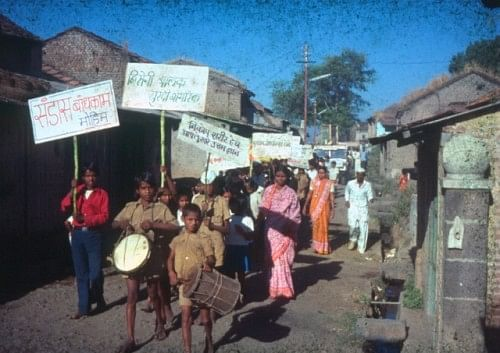 Village processions like these helped create awareness (Photo: Dr. Mapuskar)