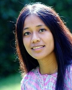 Binalakshmi Nepram, the woman behind the Manipur Women Gun Survivors Network, a unique intervention that helps women, who have lost their fathers, husbands and sons to gun violence, get back on their feet. (Credit: Azera Rahman\WFS)