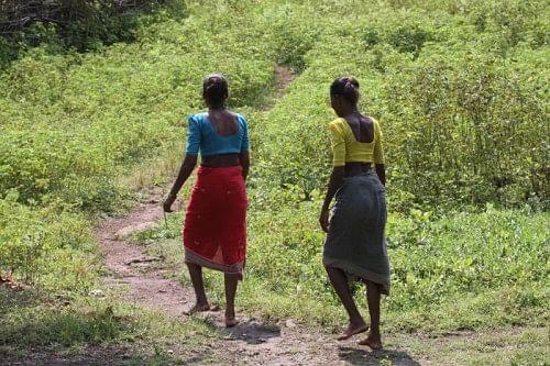 Warli women going to work in their fields