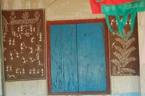The welcome sign of a Warli home