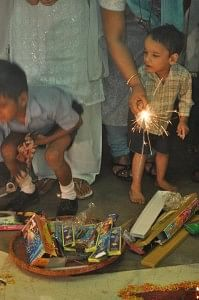 Diwali celebrations at Shishu Sarathi - an NGO in Guwahati, Assam that caters to the needs of children with cerebral palsy