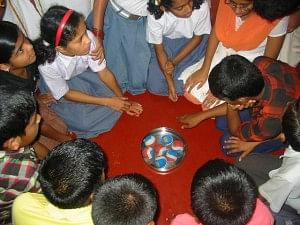 Children are introduced to the concept of positive values through fun and games