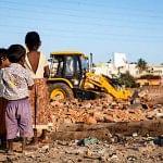 Demolishing on at Ejipura Slum. Pic: Julie Mcguire [www.juliemcguire.com]