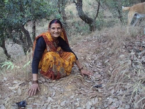 "Sarpanch Sudha Gurwant feels that ""when our van panchayats work well, our forests are healthy and our people are happy."" (Credit: Prem Chadha\WFS)"