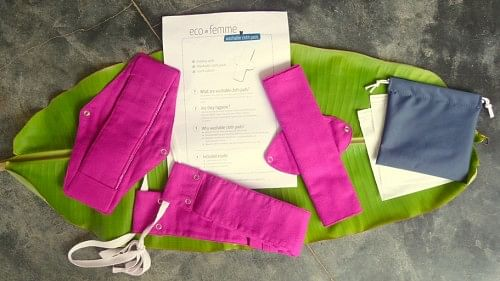 Eco Femme Kit - Washable cloth-based sanitary napkins to reduce damage to the environment