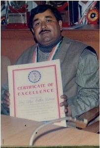 "Mr Sharma with ""Rising Personality of India"" award"