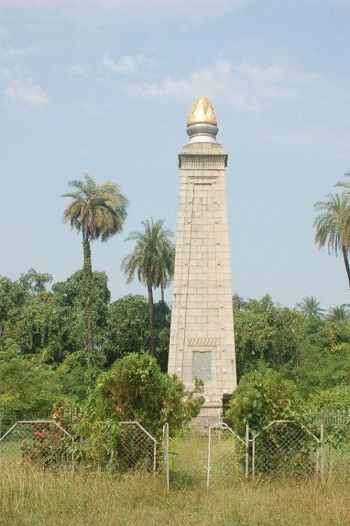 The Commemmorative Pillar at Sanjan.