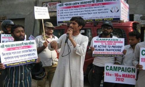 Shafiq Khan conducts community awareness workshops to fight gender-based exploitation.