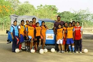 Slum Soccer - a Nagpur based initiative that is using soccer as a means of developing an economically backward section of society.