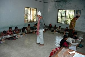 Even at the age of 95, Mr. Biswas teaches 10th standard Mathematics to the students in his school.