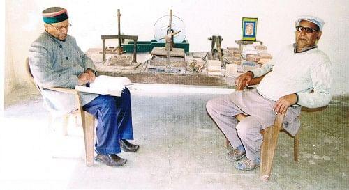 Mr Gupta with his colleague Mr Ram Swarup Tanwar