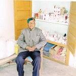 Mr Nand Lal Gupta in his lab in Solan, Himachal Pradesh