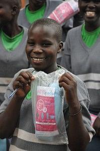 Ugandan Schoolgirl with AFRIpads Menstrual Kit