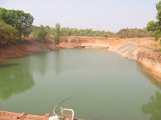 A view of the two acre lake at Oddoor farms, Mangalore
